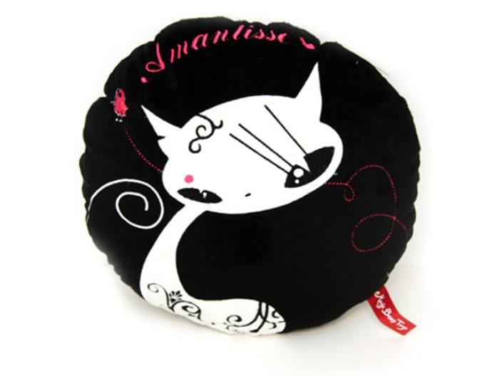 Мягкая игрушка magic bear toys Игрушка-подушка черный, белый