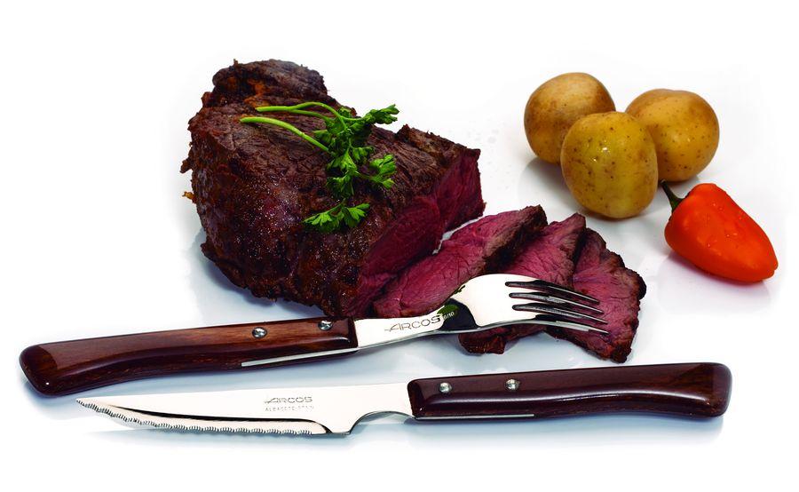 Вилка столовая Arcos Вилка для стейка 20 см, серия Steak Knives, 371601, ARCOS, Испания, 371601, коричневый