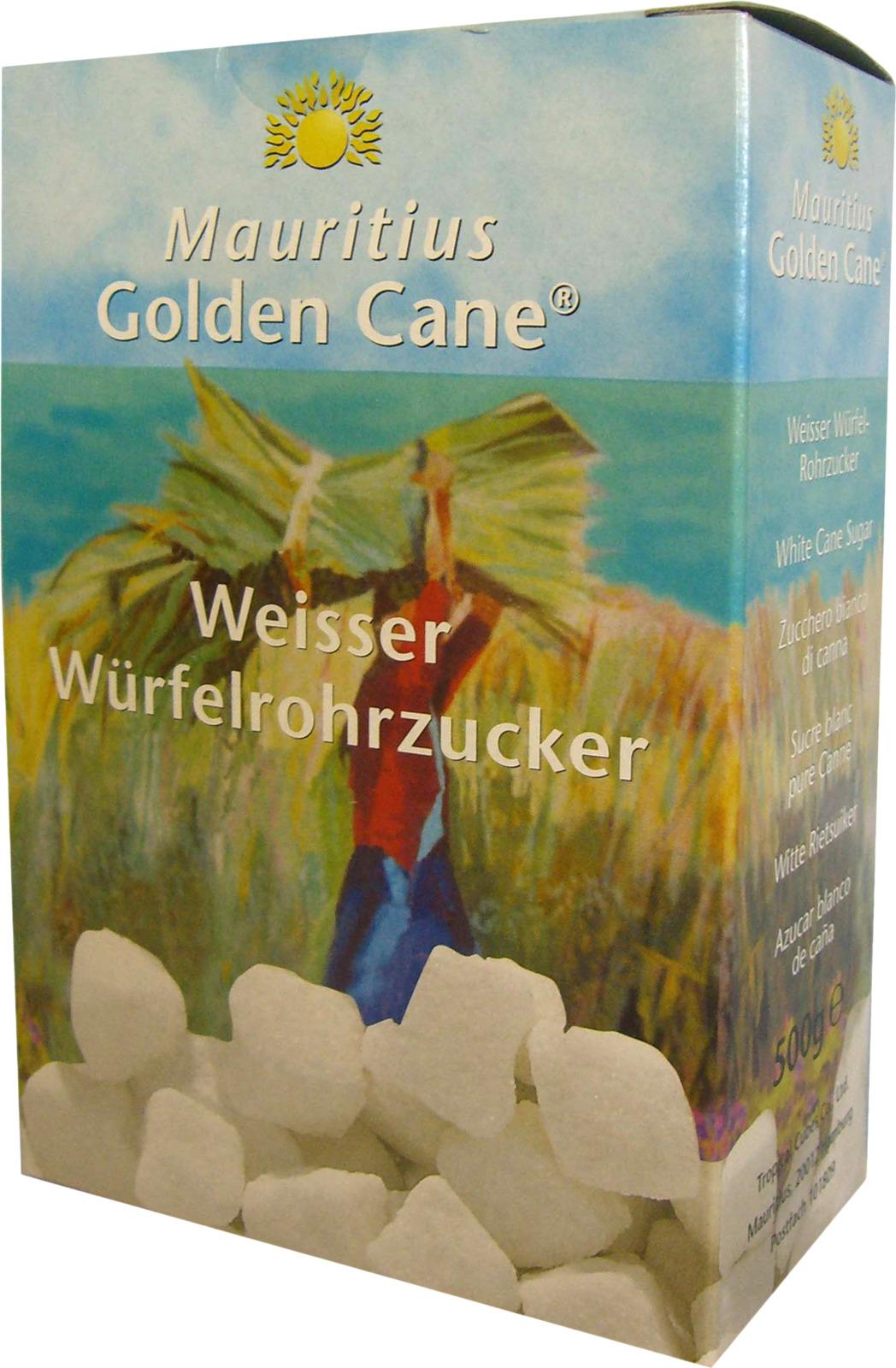 Сахар Diamant Golden Cane тростниковый кусковой белый рафинированный, 500 г