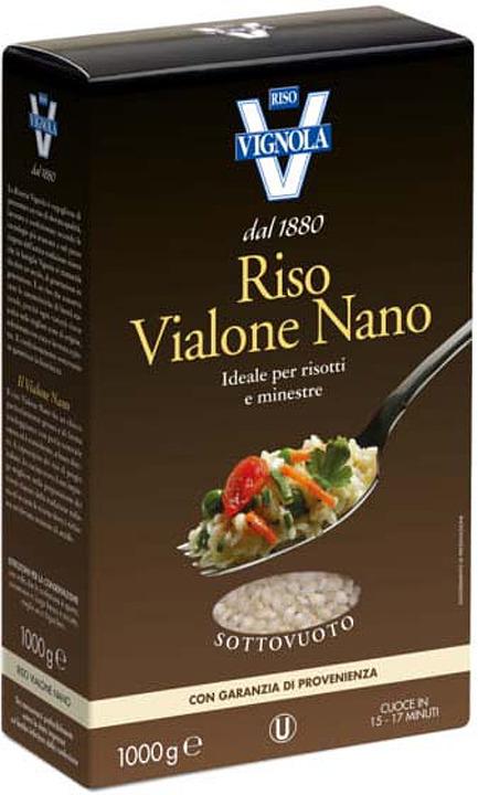 Рис Riso Vignola Виалоне Нано Ризо, 1 кг riso nuvola арборио рис 1 кг