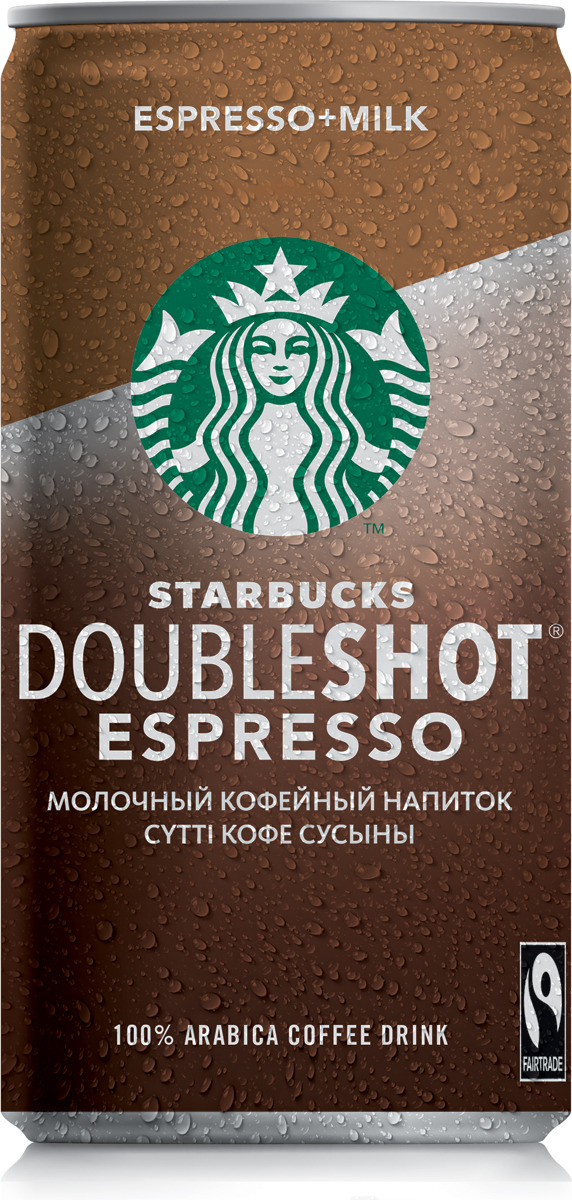 Starbucks Doubleshot Espresso, молочный кофейный напиток, 2,6%, 200 мл starbucks doubleshot espresso молочный кофейный напиток 2 6% 200 мл