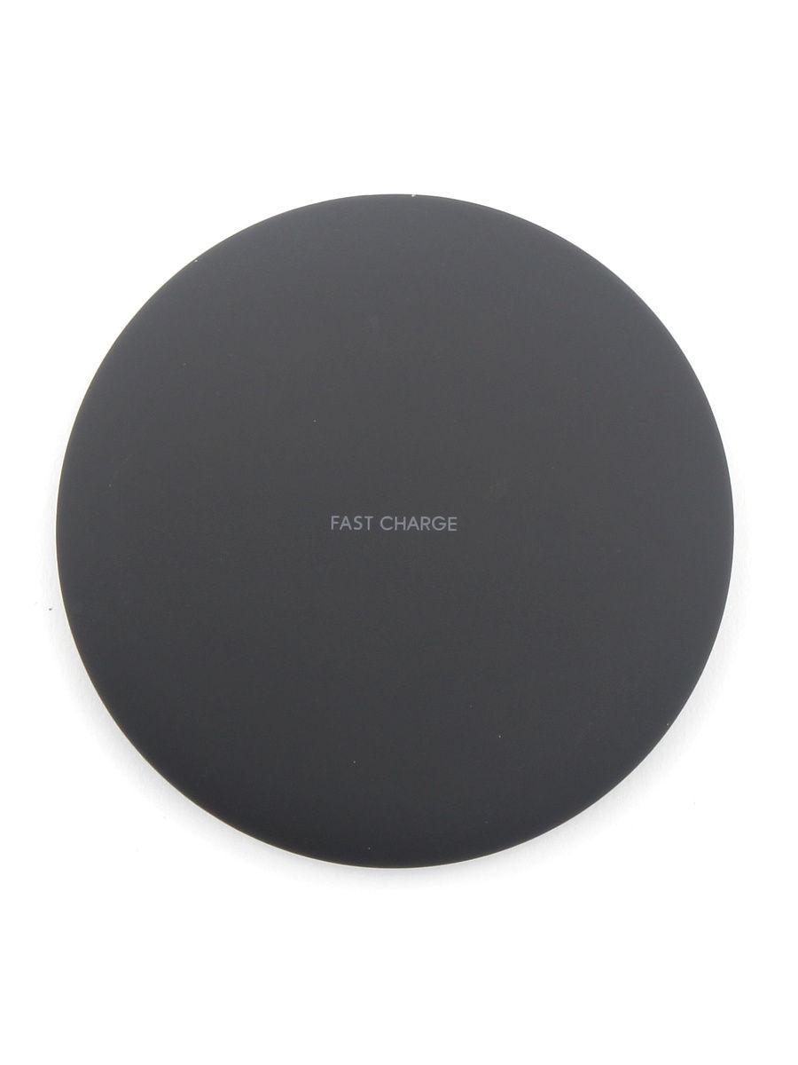 Беспроводное зарядное устройство Fast Charge Samsung/iPhone_1, черный цена и фото