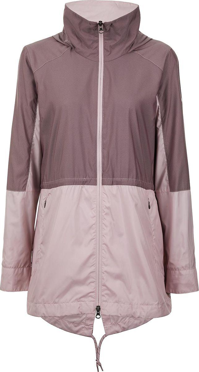 Ветровка женская Columbia Sustina Springs Long Lined Windbreaker, цвет: розовый. 1839751-618. Размер XL (50)1839751-618Куртка женская Sustina Springs.