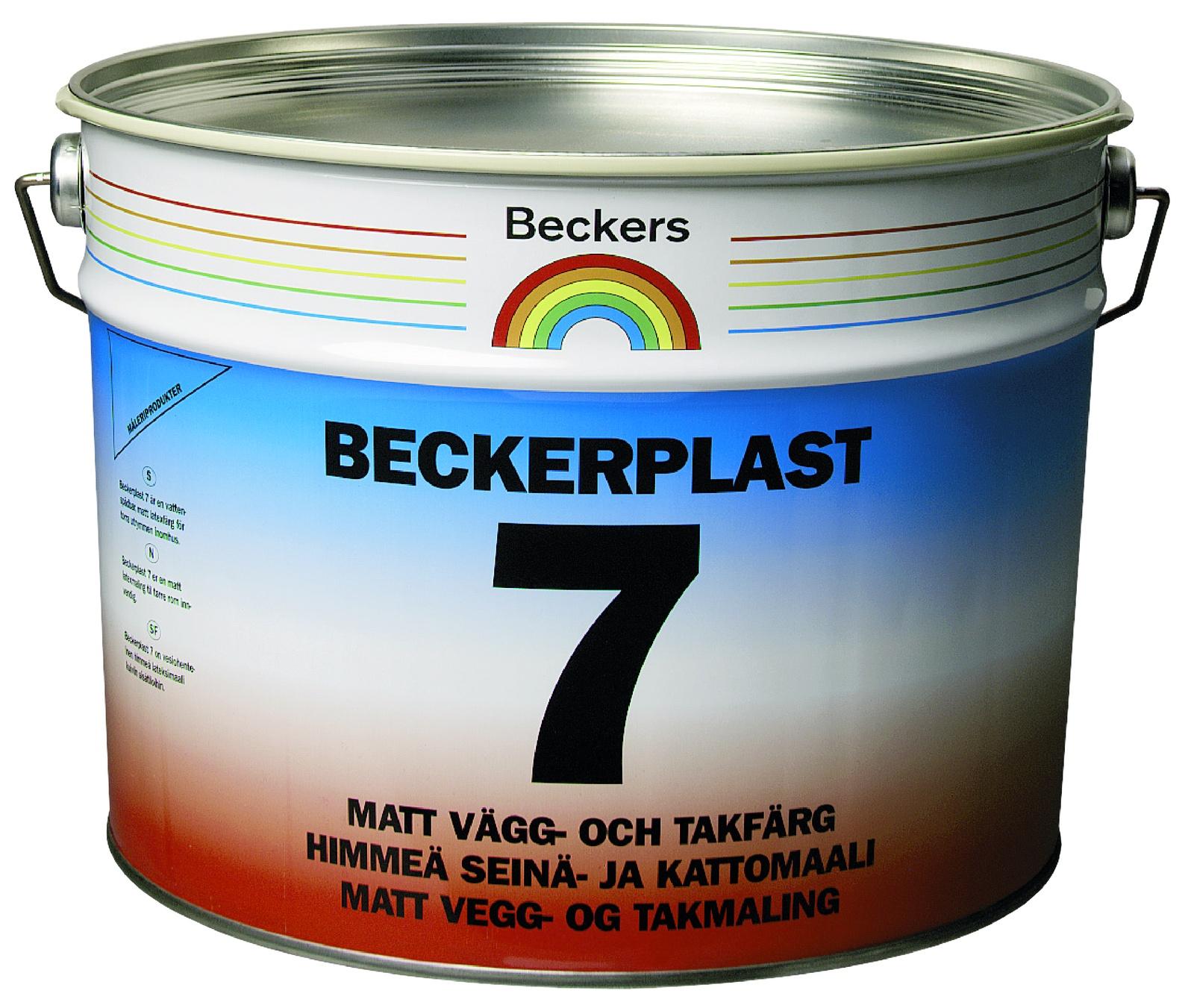 Краска BECKERS для стен BECKERPLAST 7 A мат 9л