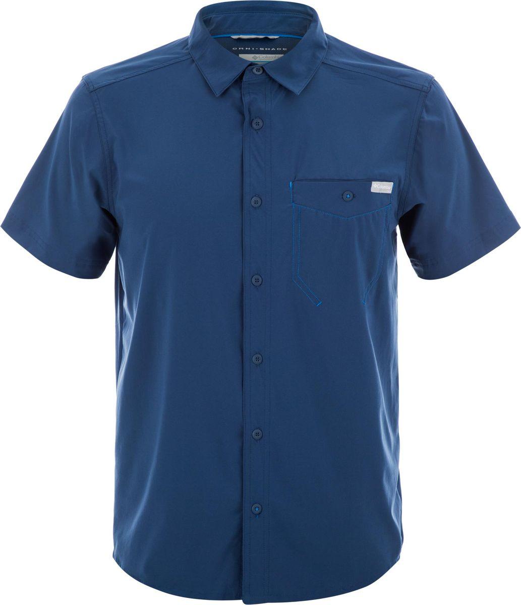 Рубашка Columbia Triple Canyon Solid Short Sleeve Shirt рубашка мужская columbia katchor ii short sleeve shirt цвет голубой 1577778 440 размер xl 52 54