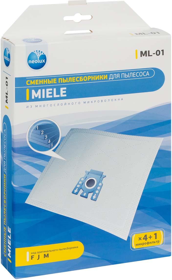 Neolux ML-01 пылесборник из пятислойного микроволокна (4 шт) + микрофильтр цена и фото
