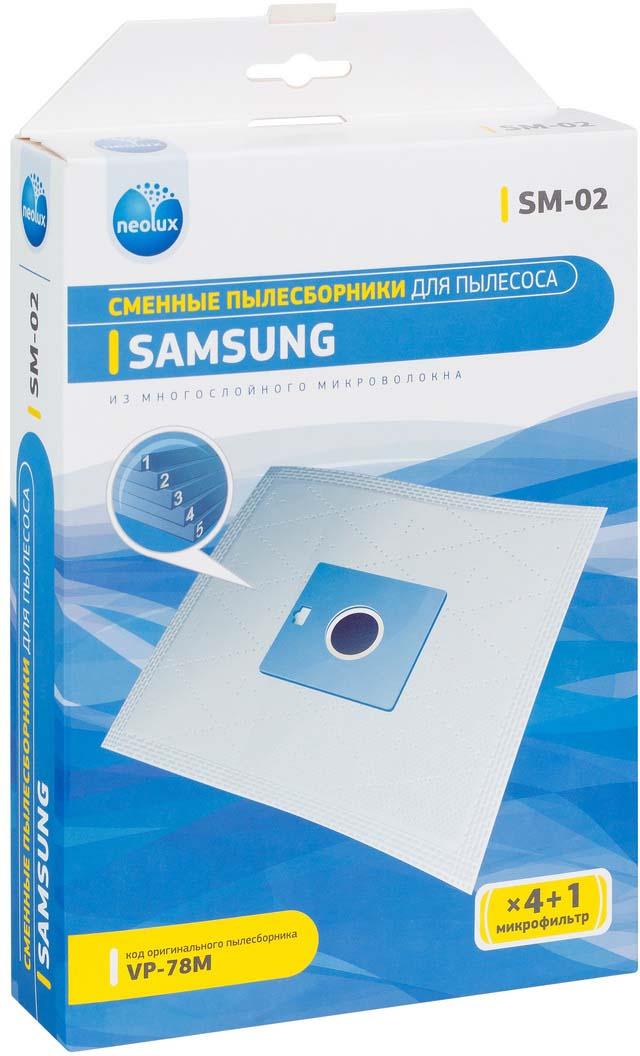 Neolux SM-02 пылесборник из пятислойного микроволокна (4 шт) + микрофильтр цена и фото