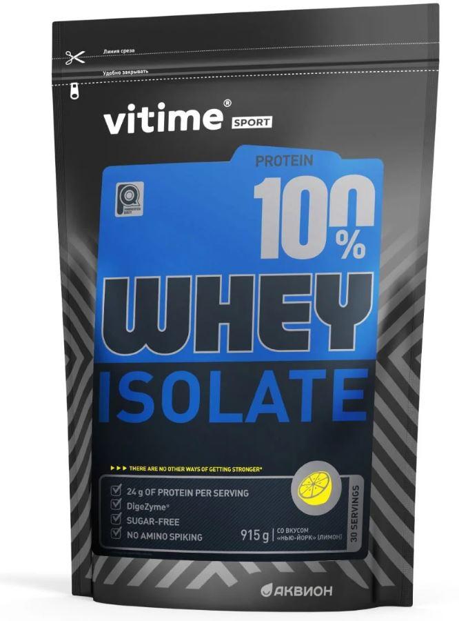 Протеин Vitime Whey Protein с лимонным вкусом протеин vitime whey protein ваниль 915 г