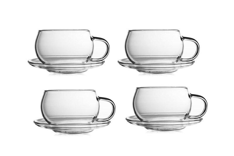 Фото - Чайная пара Канопус, 110 мл, 4 шт, набор [супермаркет] jingdong геб scybe фил приблизительно круглая чашка установлена в вертикальном положении стеклянной чашки 290мла 6 z