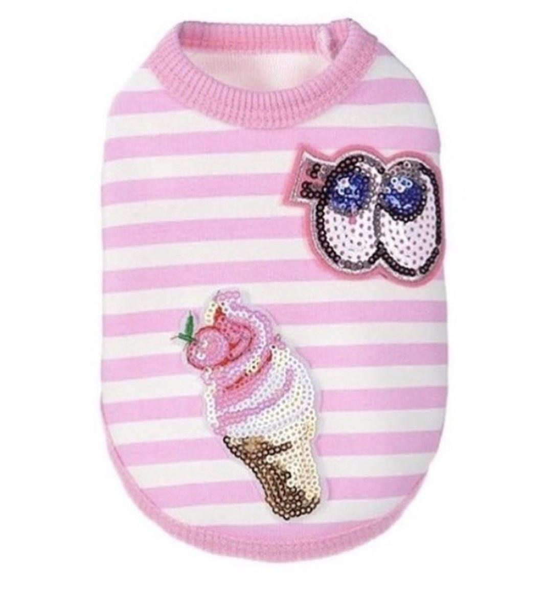 Одежда для собак Arnydog.ru Майка Айскрим ARN002_10#, розовый