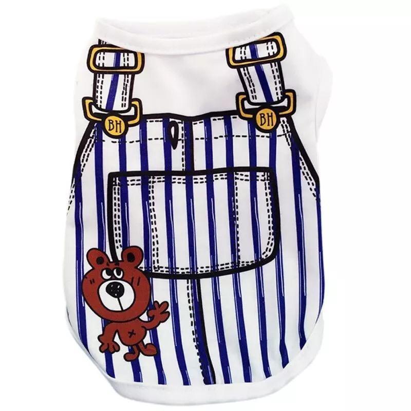 Одежда для собак Arnydog.ru Майка Медвежонок в полоску GGS-1-7_S, синий