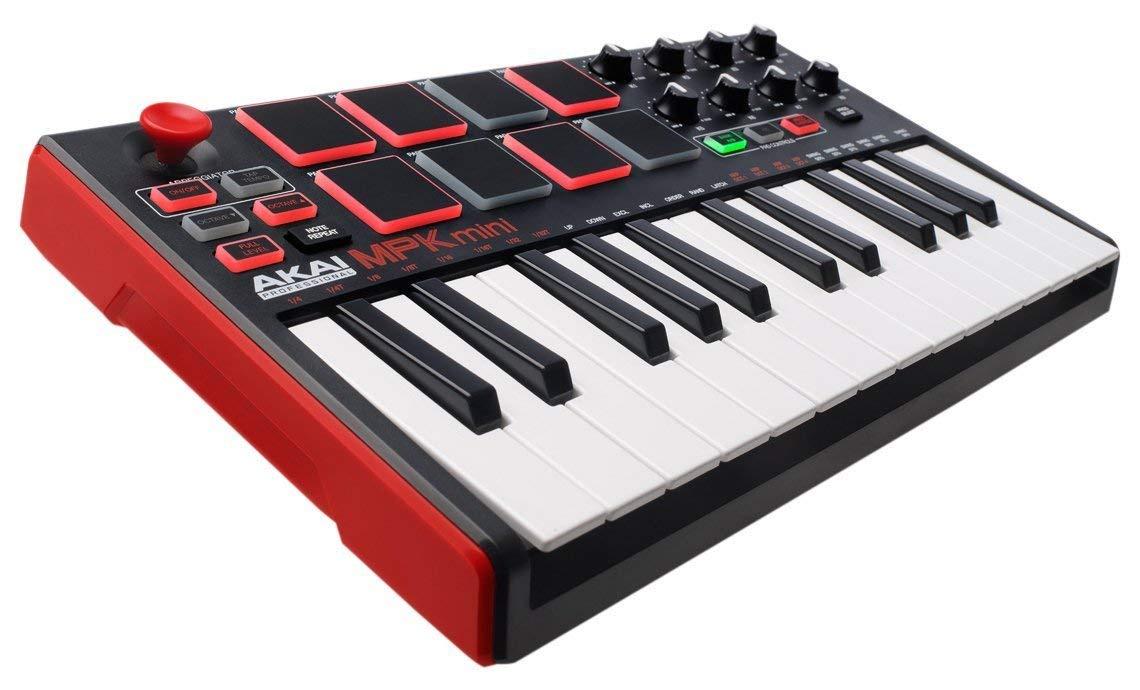 MIDI-клавиатура Akai Pro AKAI PRO MPK MINI MK2, MPK MiniMK2 midi контроллер novation launchpad mk2 компактный для ableton live 64 квадратных пэдов цвет черный