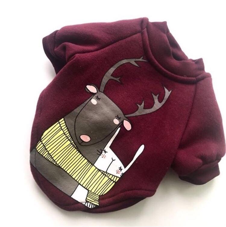 Одежда для собак Arnydog.ru Толстовка Олень CQ430D_S, бордовый