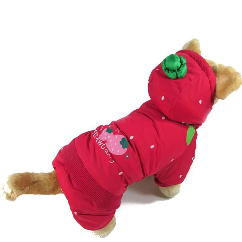 Одежда для собак Arnydog.ru Комбинезон Клубника PT3307_S, красный