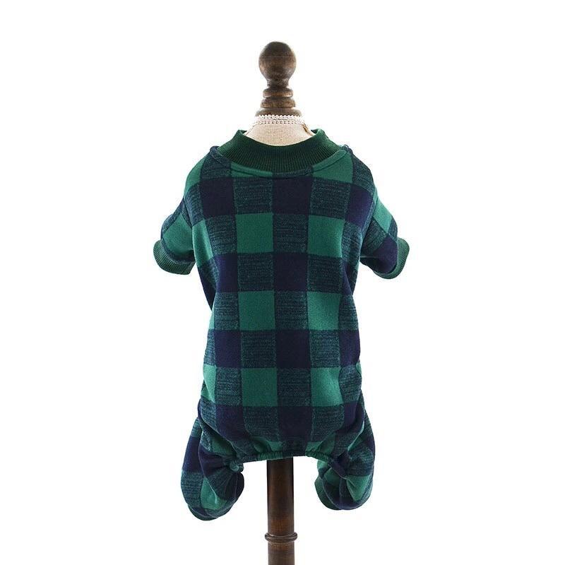 Одежда для собак Arnydog.ru Комбинезон Клетка зеленый, темно-зеленый