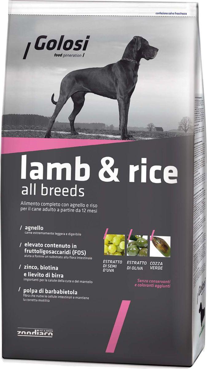 Корм сухой для собак Golosi, с ягненком и рисом, 3 кгZGD27459Идеальный корм для взрослых собак любого размера. Качественное питание способствует поддержанию хорошей физической формы. Мясо ягненка — легкое для пищеварительного тракта собаки — особенно аппетитно для собаки, поскольку является естественным элементом её питания. Полное интегрирование витаминов и минеральных веществ помогает организму ограничивать процессы оксидации. Вкусный корм для прекрасного самочувствия.