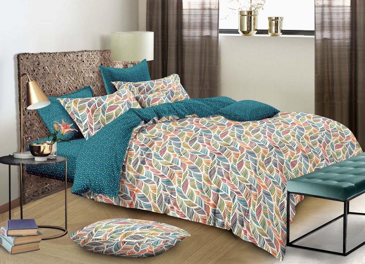 Комплект белья Buenas Noches City Valetta, 7378, зеленый, 2-спальный, наволочки 50x70, 70x70