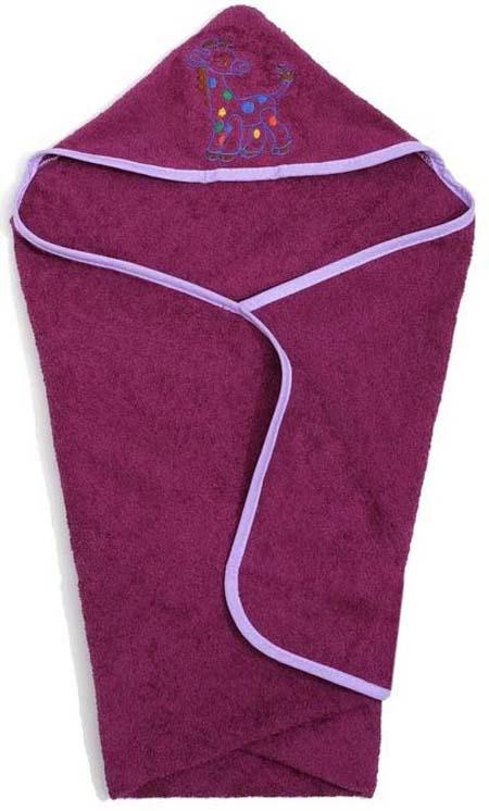 Полотенце с капюшоном детское Guten Morgen Лошадка, ПМКф-60-120-Лош, фуксия, 60 x 120 смПМКф-60-120-ЛошМахровое полотенце с капюшоном - прекрасный выбор для вашего малыша. Текстура ткани настолько приятна на ощупь, что вашему ребенку будет комфортно и тепло. Махровая ткань из 100% хлопка не вызывает раздражения и подойдет к самой чувствительной и нежной коже малыша. Полотенце прекрасно впитывает влагу и быстро сохнет. Оригинальным дополнением является уникальная вышивка в виде забавных животных.