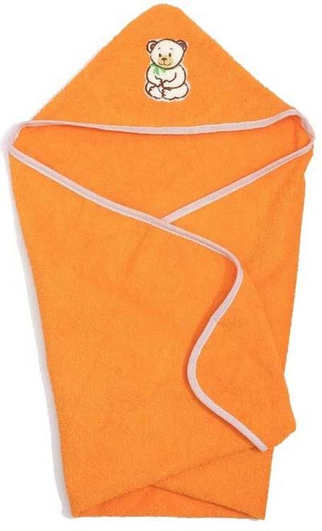 Полотенце детское Guten Morgen Медведь, ПМКа-90-90-Мед, оранжевый, 90 x 90 смПМКа-90-90-МедМахровое полотенце-уголок - позволяет быстро укутать и согреть малыша после купания. Махровая ткань изготовлена из натурального экологически чистого хлопка, она дышит и хорошо впитывает влагу, поэтому так идеальна после купания и бани. Махровая ткань не раздражает детскую кожу и не вызывает аллергии, ее ворсистая поверхность оказывает приятное массажное воздействие на нежную кожу, согревает малыша. Один из уголков махрового полотенца представляет собой капюшон, чтобы быстро и удобно укрыть головку малыша, поэтому оно приятно и удобно в применении.