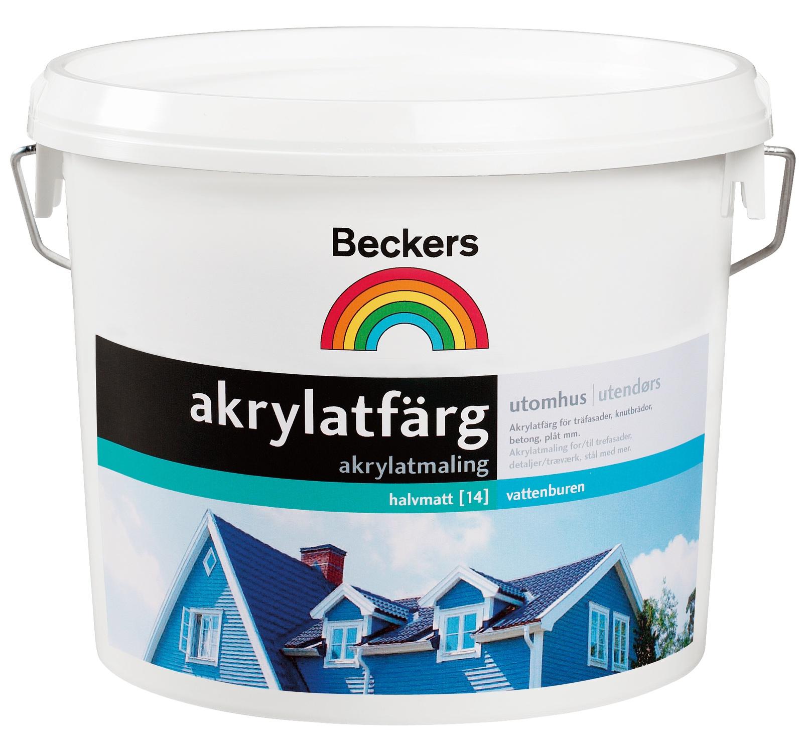 цена на Краска BECKERS фасадная AKRYLATFARG A п/мат 0,9л, 088043