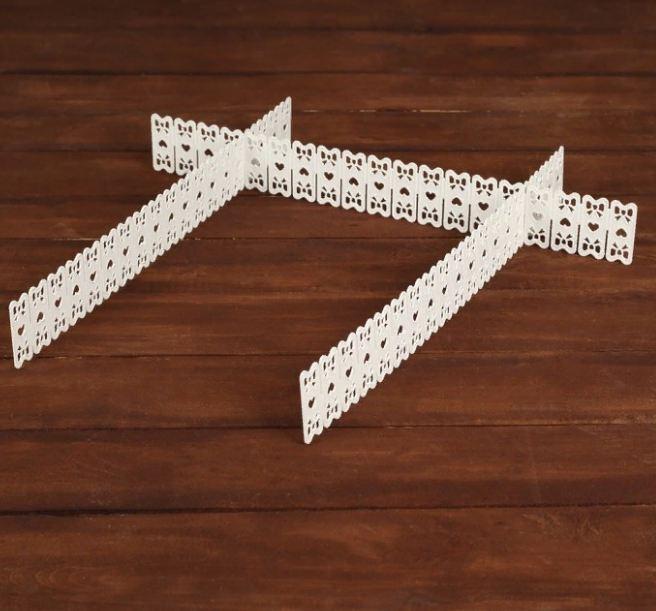 разделители для ящика unistor разделители для ящиков meccano органайзер для хранения белый Разделители для ящика IQ Format 49х6 см, 3 шт, 4627151967134, белый