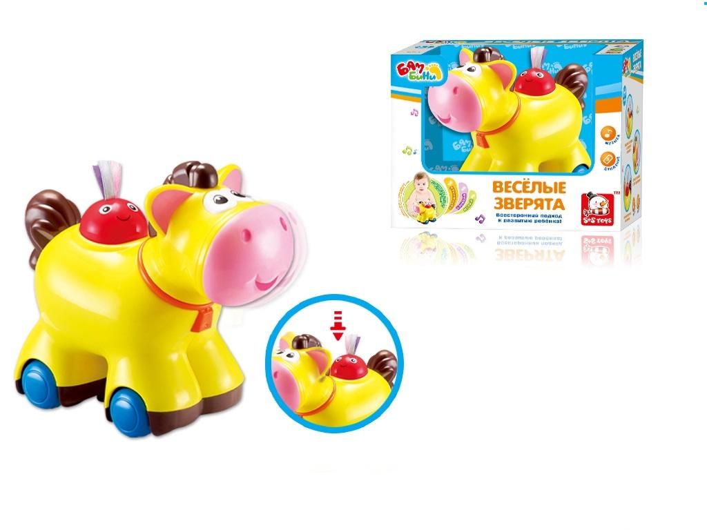 Развивающая игрушка S+S TOYS Бамбини Лошадь 100658746 желтый книжка перчатка для купания для ванны s s toys бамбини 100654334