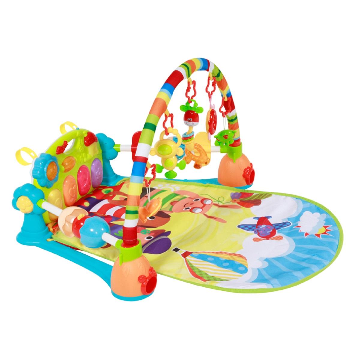 Развивающий коврик Lorelli Toys Приключение, 1030041 развивающий коврик lorelli toys развивающий коврик lorelli toys с интерактивным столиком 105 х 65 см 1030038