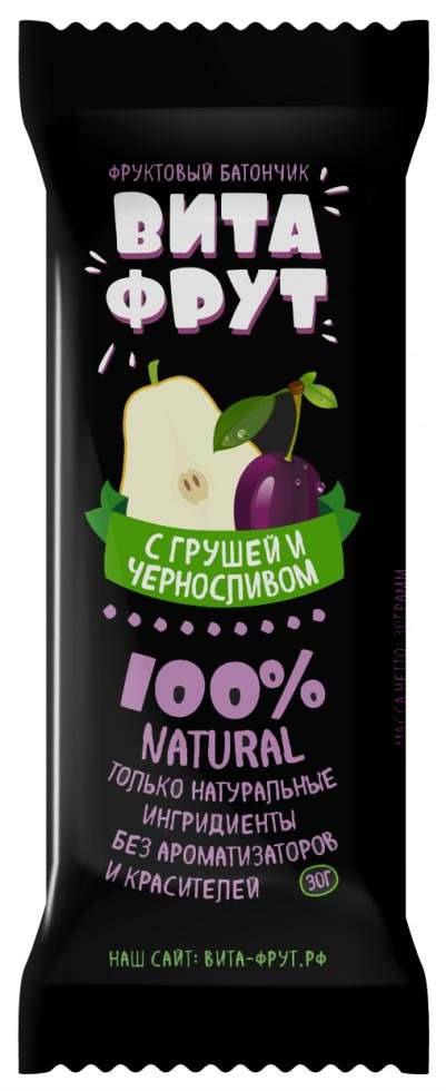 Батончик фруктовый Витафрут с грушей и черносливом, 30 г батончик фруктовый витафрут с гранатом 30 г