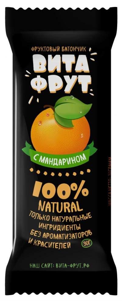 Батончик фруктовый Витафрут с мандарином, 30 г батончик фруктовый витафрут с гранатом 30 г