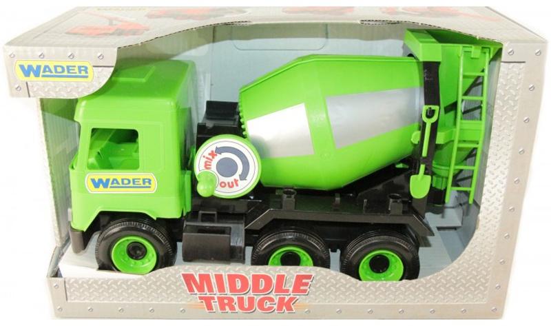 Фото - Спецтехника Wader Middle Truck бетоносмеситель, 184-39485 зеленый бетономешалка wader super truck разноцветный 58 5 см 36590
