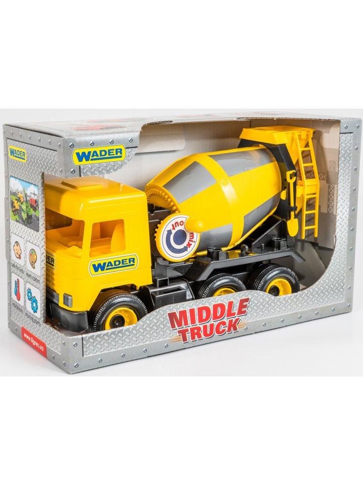 Фото - Спецтехника Wader Middle Truck бетоносмеситель, 184-39493 желтый бетономешалка wader super truck разноцветный 58 5 см 36590