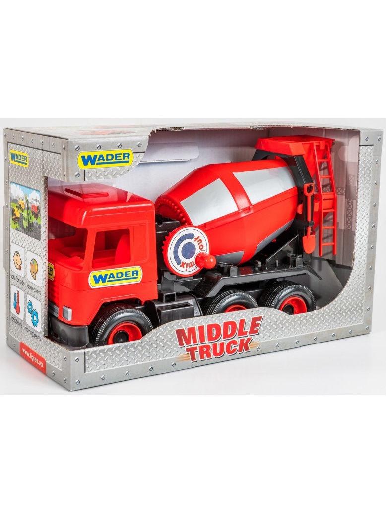 Фото - Спецтехника Wader Middle Truck бетоносмеситель, 184-39489 красный бетономешалка wader super truck разноцветный 58 5 см 36590