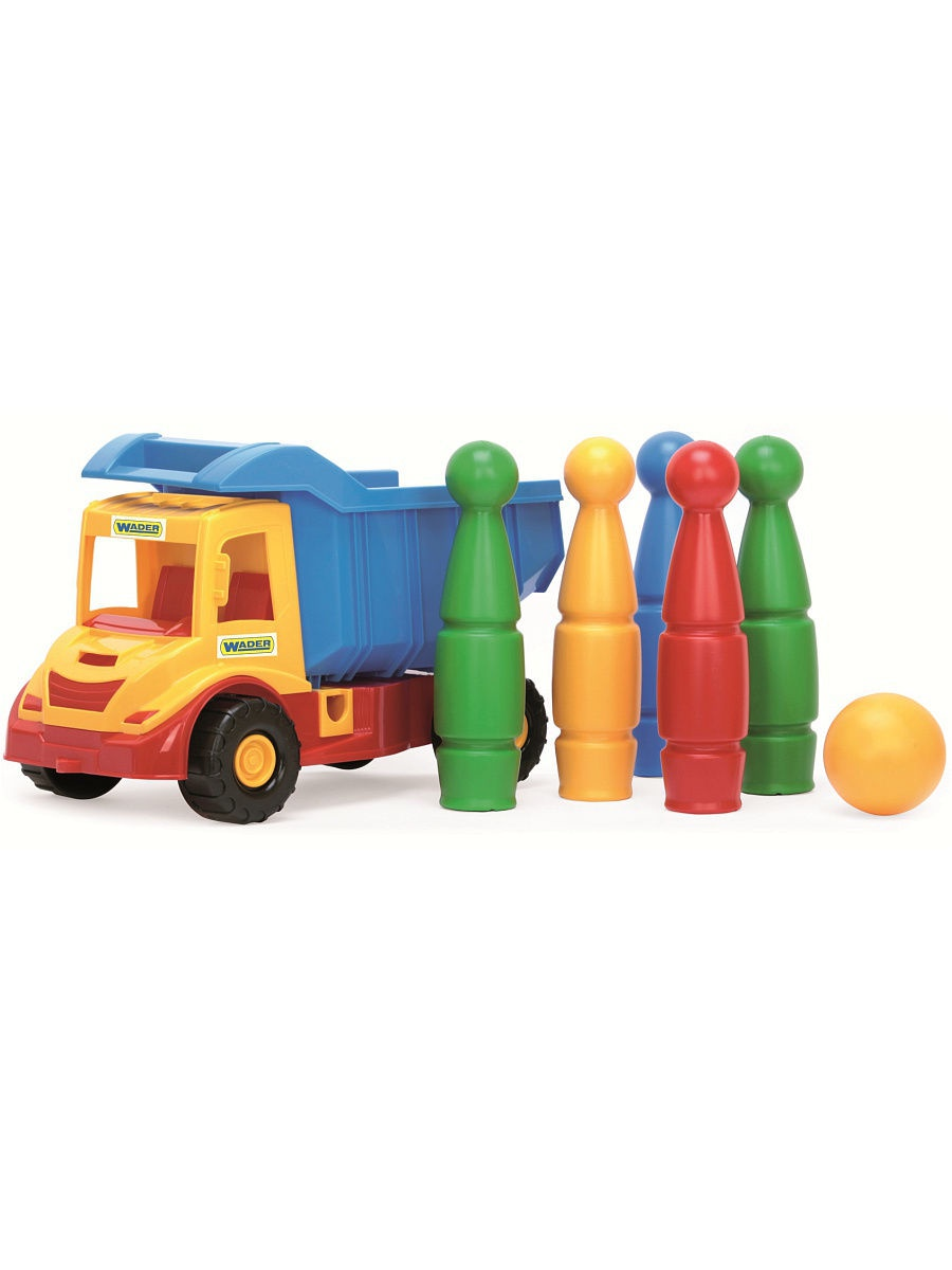 Фото - Спецтехника Wader Грузовик Multi Truck, 184-39220 желтый, синий, красный бетономешалка wader super truck разноцветный 58 5 см 36590