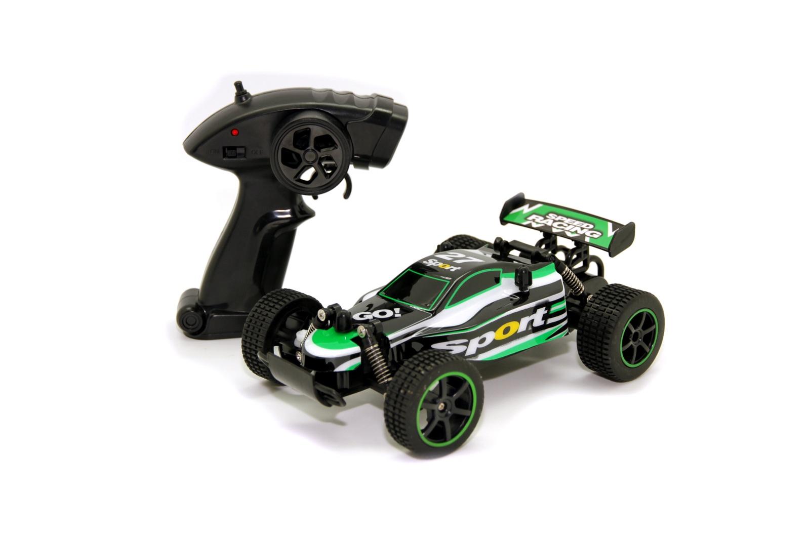 Машинка радиоуправляемая Balbi RCS-5201 G, A0G1082915 зеленый, черный автомобиль balbi автомобиль черный от 5 лет пластик металл rcs 2401 a