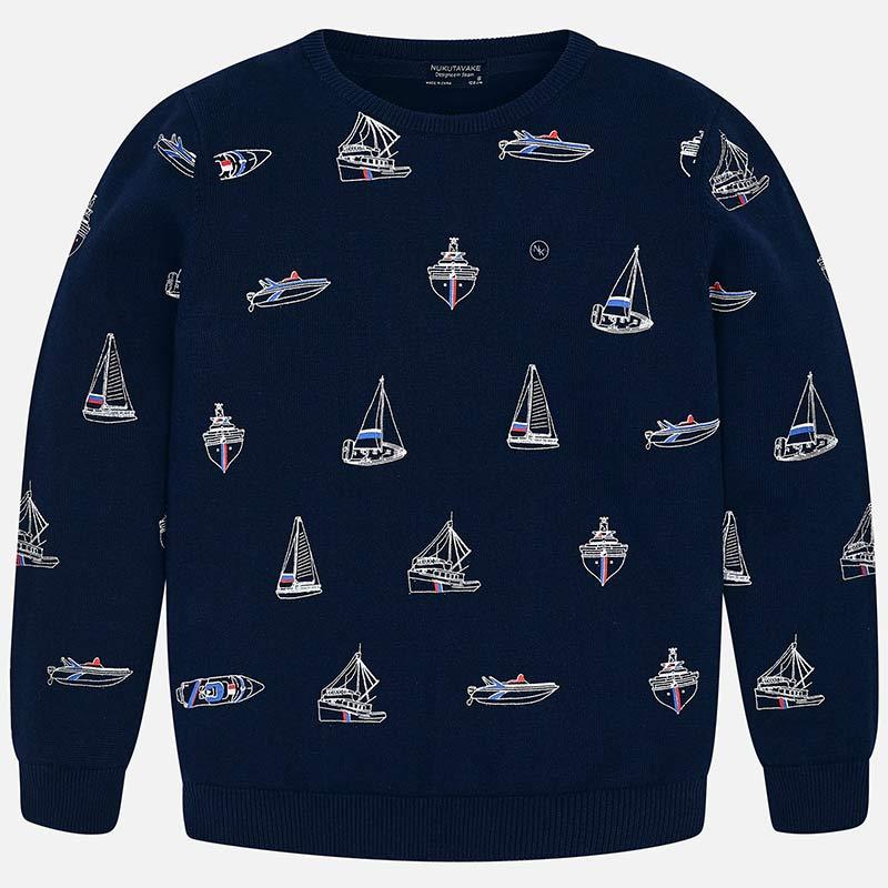 Свитер Mayoral, Nukutavake by Mayoral свитер для мальчика nukutavake by mayoral цвет темно синий 6305 77 7b размер 140 10 лет