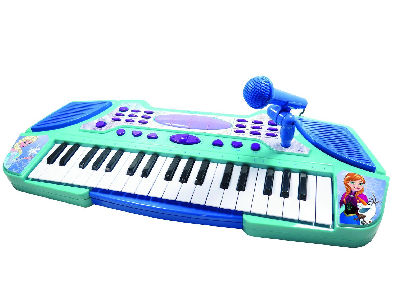 Цифровой синтезатор Lexibook Холодное Сердце, бирюзовый, синий цена и фото