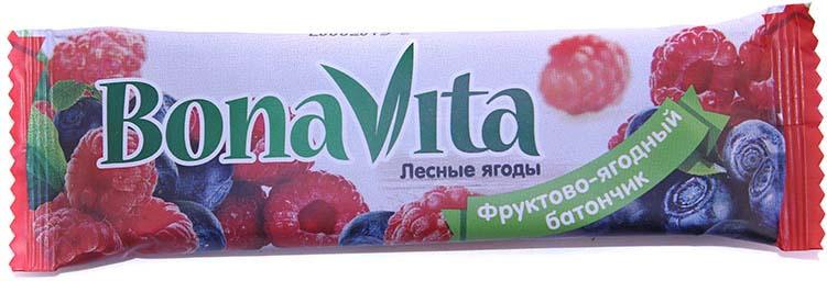Батончик фруктово-ягодный Bona Vita Лесные ягоды, 40 г батончик из ягод шелковицы 20 г 20 г