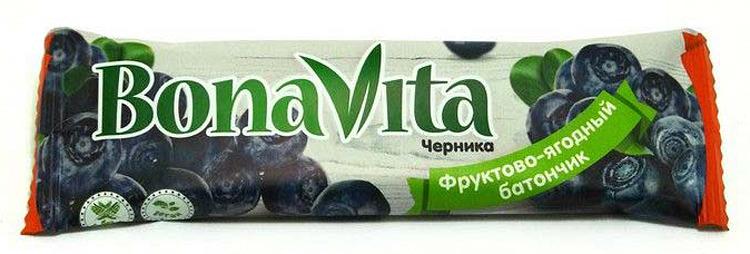 Батончик фруктово-ягодный Bona Vita Черника, 40 г батончик из ягод шелковицы 20 г 20 г