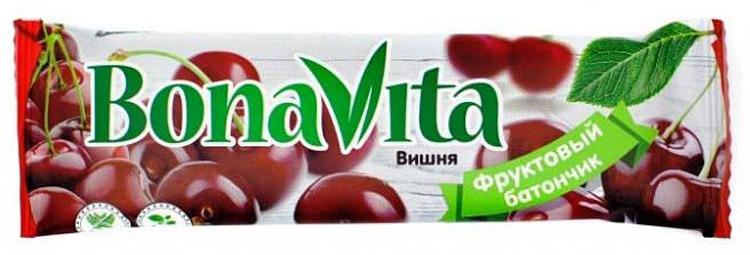 Батончик фруктовый Bona Vita Вишня, 40 г батончик из ягод шелковицы 20 г 20 г