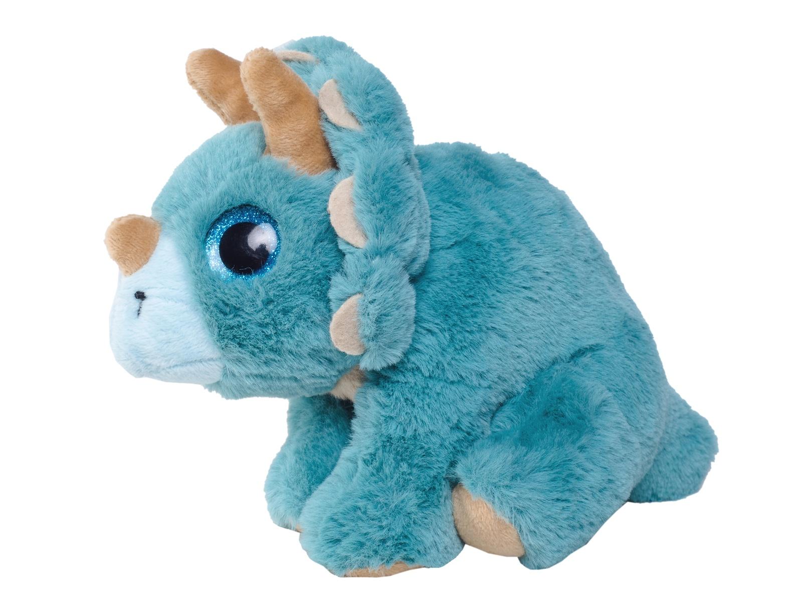 Мягкая игрушка Плюш Ленд Мягкая игрушка Трицератопс, FX-1066B голубой игрушка мягкая динозавр плюшевый 3 цвета 28 см