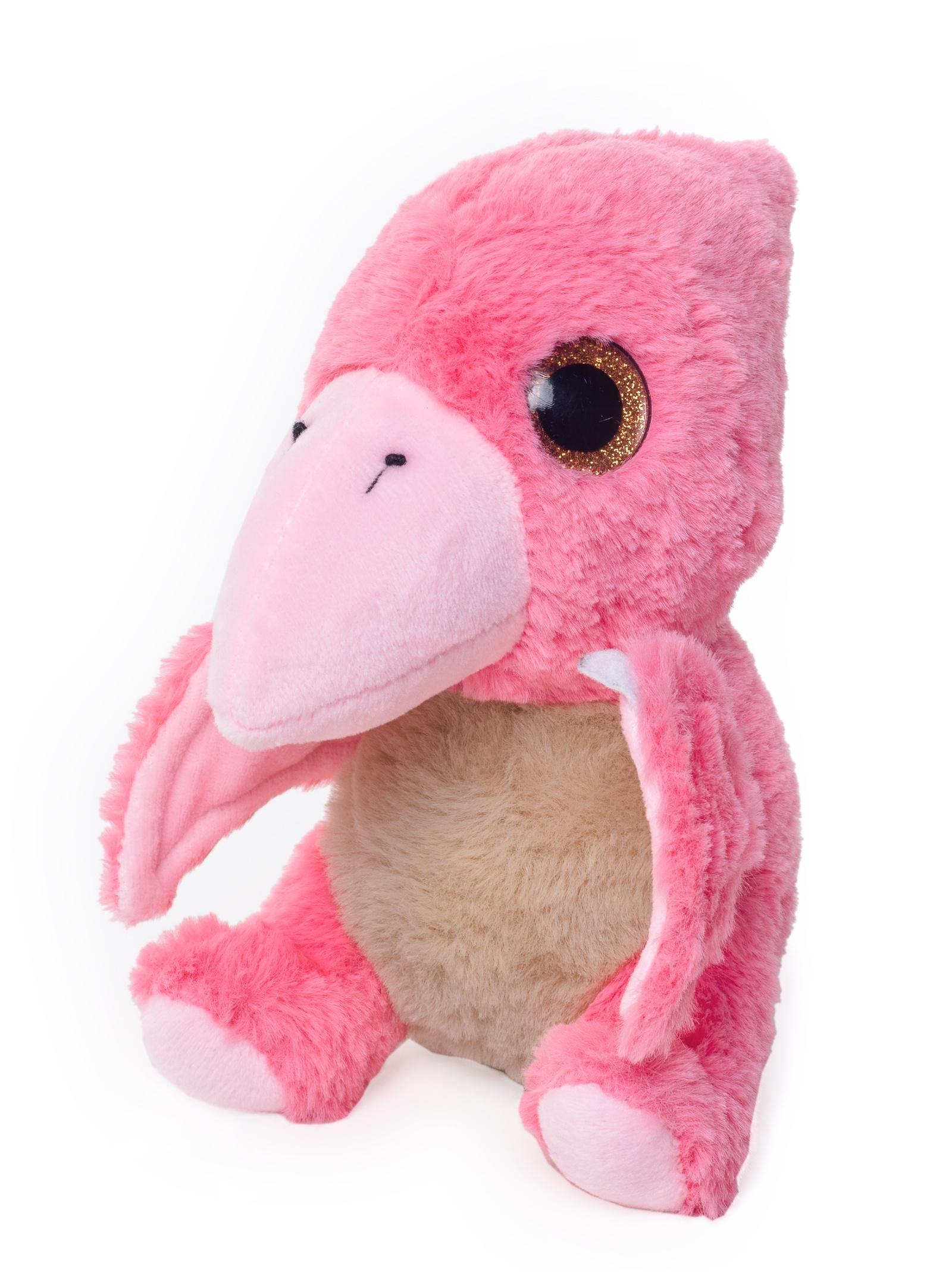 Мягкая игрушка Плюш Ленд Мягкая игрушка Птеродактиль, FX-1068B розовый игрушка мягкая динозавр плюшевый 3 цвета 28 см