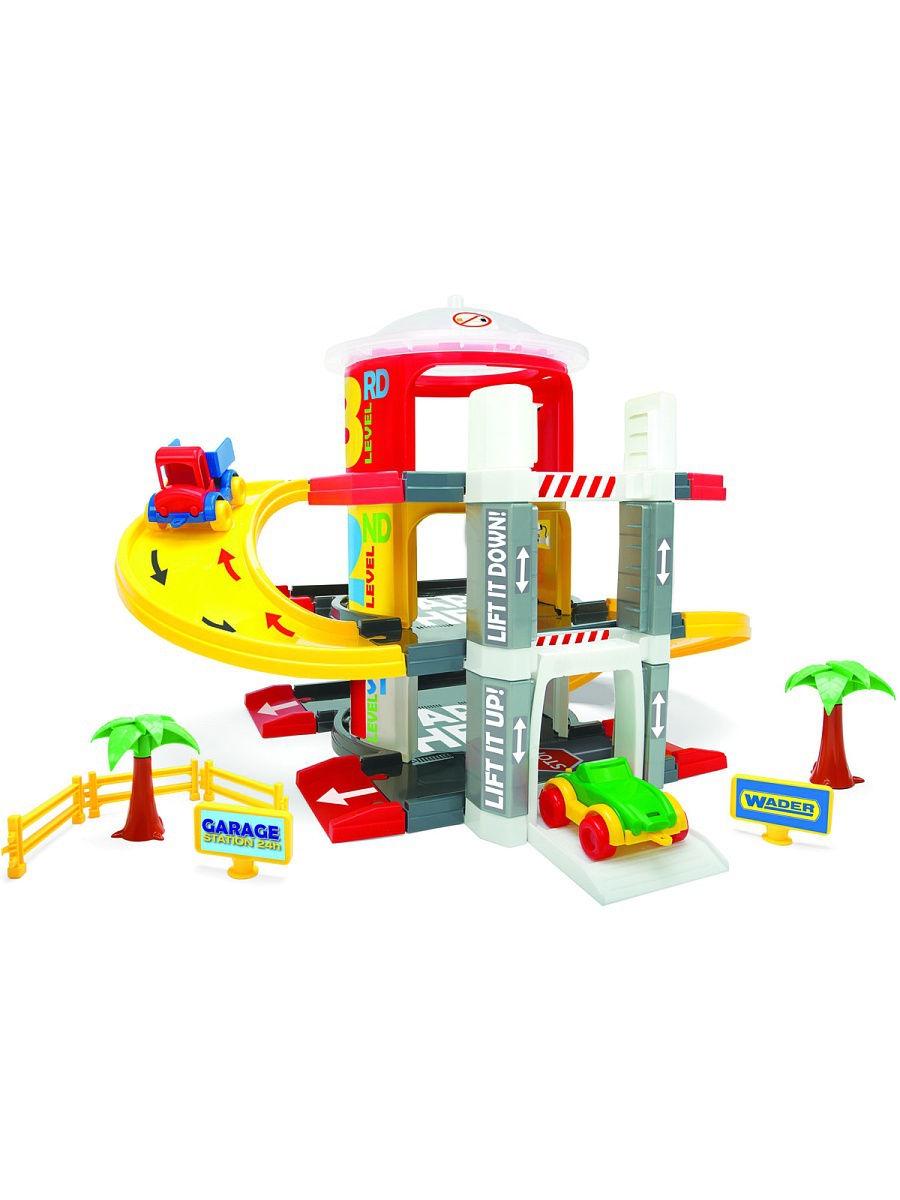 Игровой набор Wader Гараж с лифтом, 184-50310 красный все цены