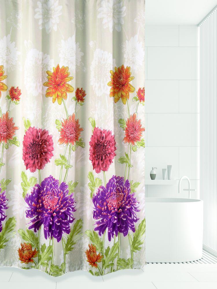 Штора для ванной BATH PLUS AUTUMN CHRYSANTHEM, бежевый, оранжевый, фуксияch-21268Модные шторы для ванной марки Bath Plus, сделаны из 100% полиэстера, с водоотталкивающей пропиткой и утяжелительной цепочкой внизу. Большой выбор расцветок и рисунков позволит подобрать штору для любой ванной комнаты. Плотность 80г/кв.м. Кольца в комплекте не поставляются. Обращаем внимание, фактический цвет изделия и яркость рисунка может незначительно отличаться от изображения на сайте. Хороших Вам покупок!
