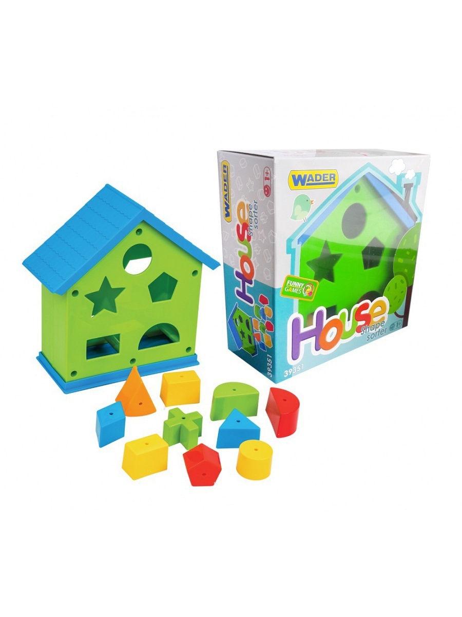 Сортер Wader 39351, 184-39351 зеленый робинс настольная игра мой первый развивающий набор сортер формы и цвета
