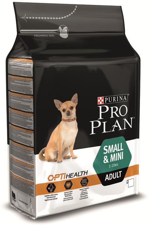 """Корм сухой Pro Plan """"Optihealth"""" для собак мелких и карликовых пород, с курицей и рисом, 3 кг"""