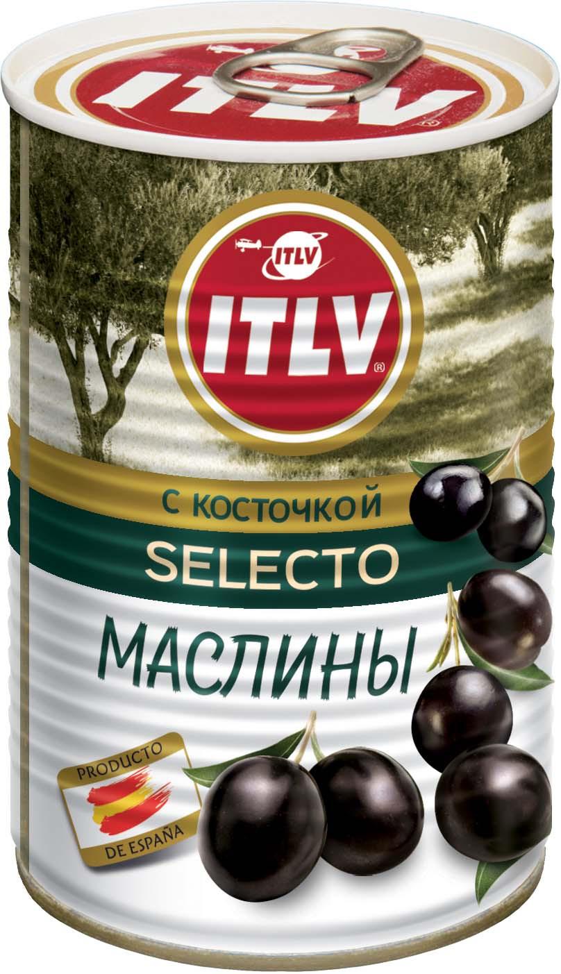 ITLV маслины с косточкой, 425 мл цена в Москве и Питере