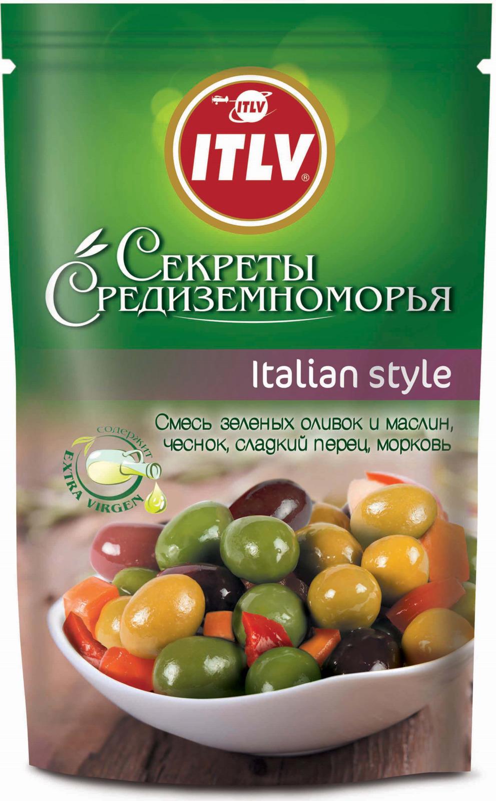 Ассорти оливок и маслин ITLV Italian Style, 350 г