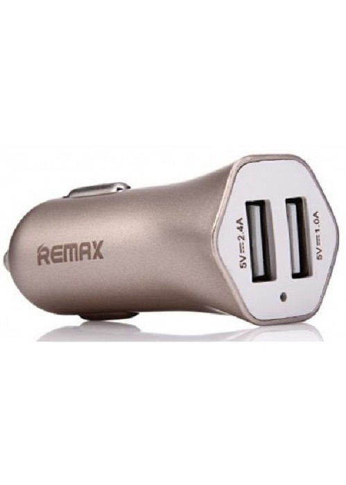 Автомобильное зарядное устройство Remax 2USB 2.4A, RCC 204, золотой зарядное устройство remax infinite rp w10 black