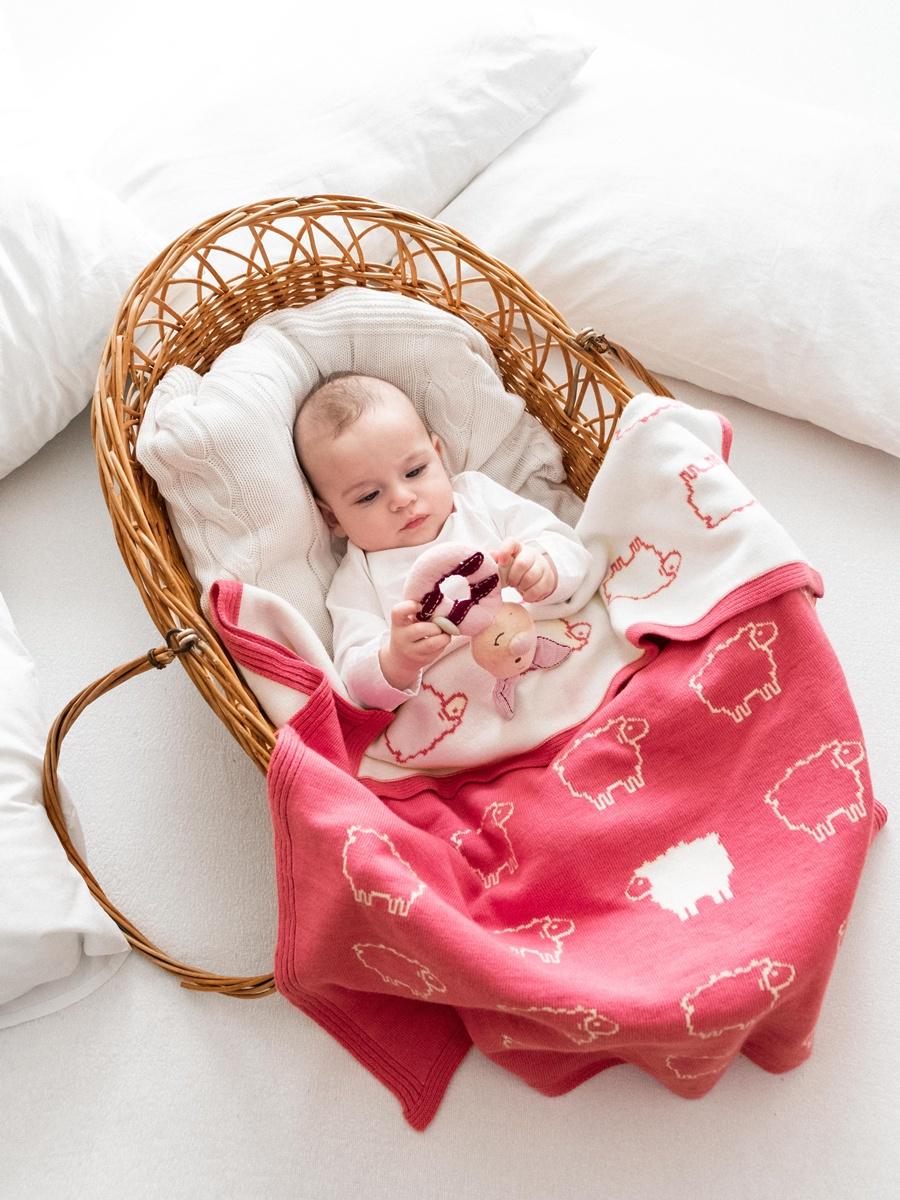 Фото - Детский плед Cloudlet CH1, CH1_коралловый, коралловый пледы и полотенца