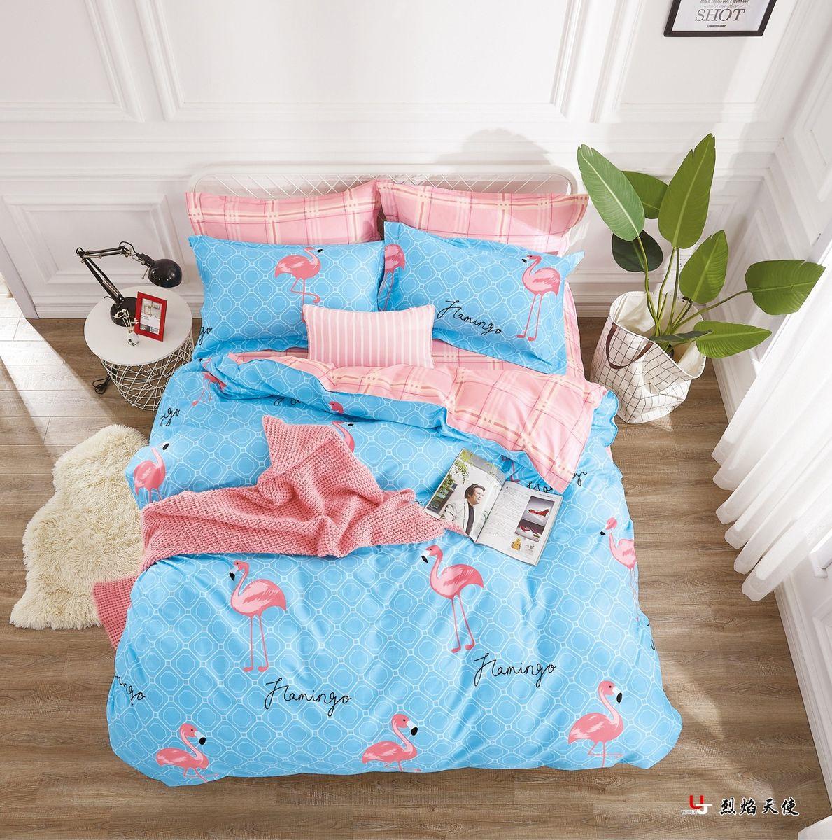 Комплект постельного белья Guten Morgen Перкаль, Пг-797-143-240-70, голубой, семейный, наволочки 70x70 комплект постельного белья guten morgen перкаль пг 797 175 220 70 голубой 2 х спальный наволочки 70x70